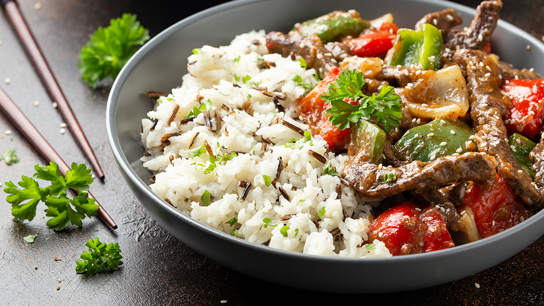 CHINESE BEEF-ONION RICE