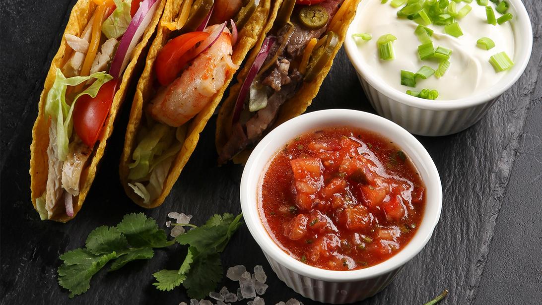 American Garlic Shrimp Tacos