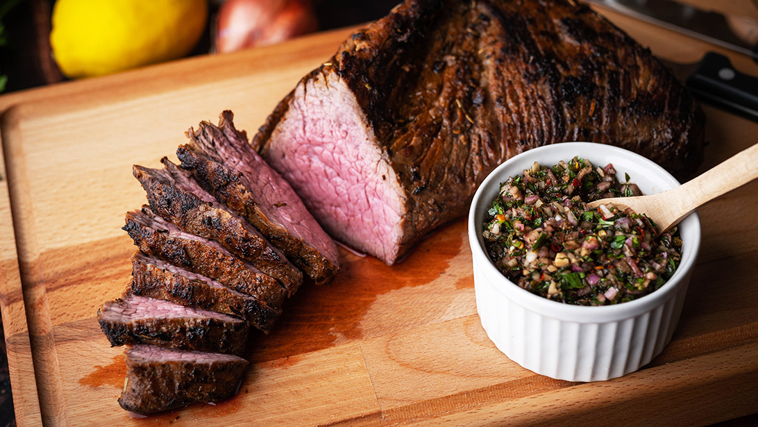 South American Grilled Steak with Chimichurri
